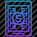 finance, investment, online, platform, tablet icon
