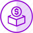 box, donation, funding, money icon