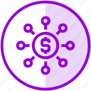 budget, funding, fundraising, money icon