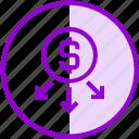 donation, funding, money, transaction, transfer icon