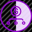 crowdfunding, fundraising, money, sharing icon