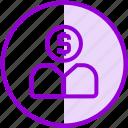 crowdfunding, finance, funding, money, user icon