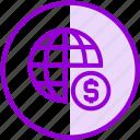 crowdfunding, donation, funding, global, international, money icon