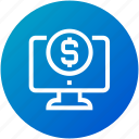 donation, funding, money, online payment icon