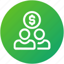 crowdfunding, donation, investors, stockholder, users icon