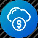 cloud, donation, funding, money icon