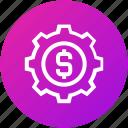 donation, funding, money, settings icon