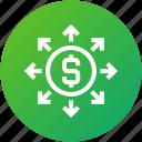 funding, fundraising, money, network icon