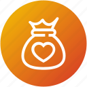 crowdfunding, funding, funds, money bag icon
