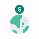 crowd, crowdfunding, finance, funding, global, international, money icon