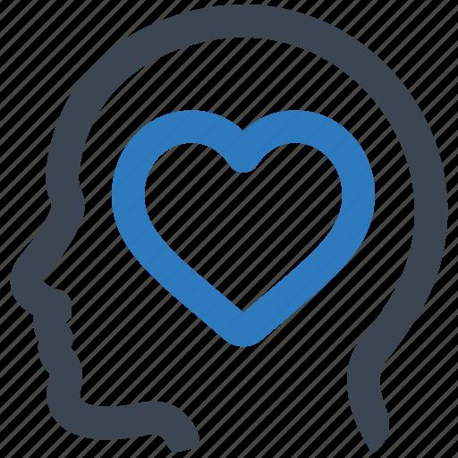 charity, head, heart icon