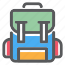 adventure, backpack, bag, carrier, school, tools icon