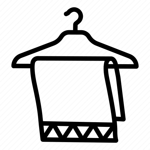 Bath, bathroom, clothes, clothing, hanger, heating, towel icon - Download on Iconfinder