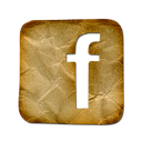 facebook, gold icon