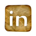 linkedin, logo, square icon