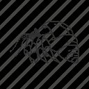crab, crustacean, decapod, hermit, hermit crab, ocean crab, paguroidea icon