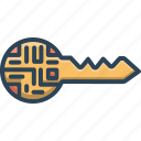 cyber, digital, digital key, key, protection, security, technology icon