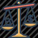 compare, comparison, cryptography, value icon