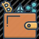 crypto, digital, ewallet, money, wallet