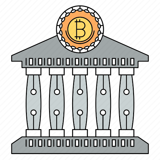 bank, bitcoin, coin, cryptocurrency icon
