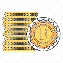 bicoin, bitcoin, cash, coin, cryptocurrency icon