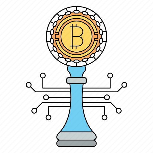 bitcoin, cryptocurrency, strategy icon