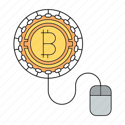 bitcoin, cryptocurrency, worker icon