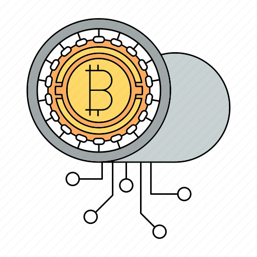 bitcoin, cloud, cryptocurrency, encryption, lock, private, security icon