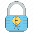 bitcoin, cryptocurrency, lock