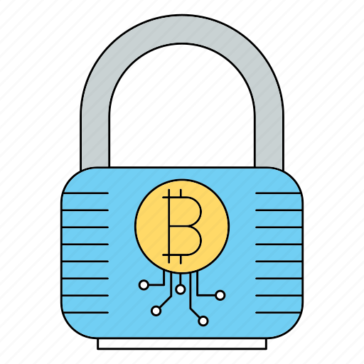 bitcoin, cryptocurrency, lock icon