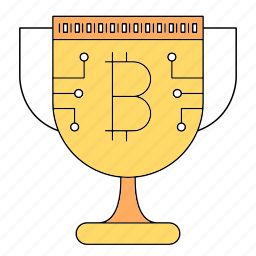 bitcoin, cryptocurrency, protect, shield icon