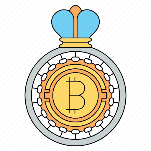 bitcoin, crown, cryptocurrency, king, technology icon