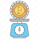 balance, bitcoin, cryptocurrency, technology icon