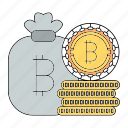 bitcoin, cash, coins, cryptocurrency, technology icon