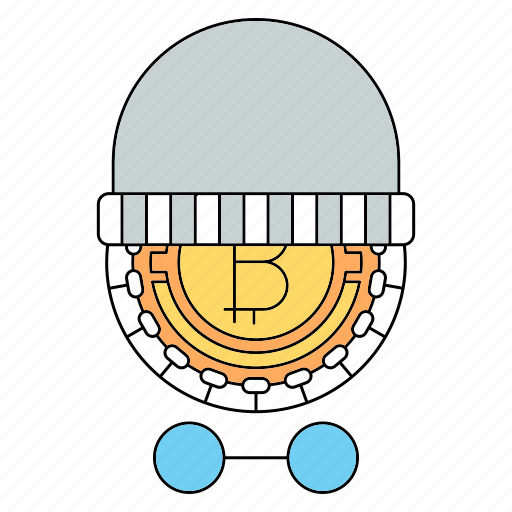 bitcoin, burglar, criminal, cryptocurrency, steal, technology, thief icon
