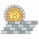 bitcoin, cryptocurrency, protect, technology, wall icon