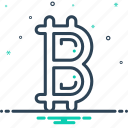 bitcoin, btc, coin, crypto, cryptocurrency, currency, digital icon