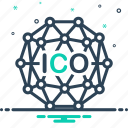 coin, ico, initial, investment, offering icon