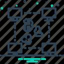 coin, cryptocurrency, currency, digital, peer, peer to peer, pressure icon