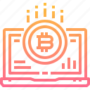 bitcoin, computer, cryptocurrency, currency, digital, interface, laptop