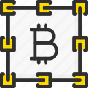 bitcoin, blockchain, chain, connect, connection, crypto, cryptocurrency icon
