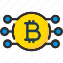 bitcoin, blockchain, connect, connection, crypto, cryptocurrency icon