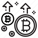 business, coin, cryptocurrency, digital, increase, money icon