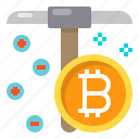 business, coin, cryptocurrency, digital, mining icon
