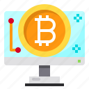 business, cryptocurrency, digital, money, monitor icon