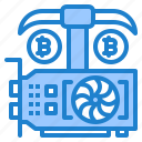 vga, card, bitcoin, currency, minning, cryptocurrency icon