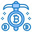 minning, bitcoin, currency, cryptocurrency, money icon