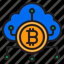 bitcoin, cloud, cryptocurrency, digital, money