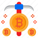 cryptocurrency, currency, minning, bitcoin, money icon