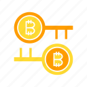 access, bitcoin, blockchain, cryptocurrency, encryption, key, lock, protect, security icon